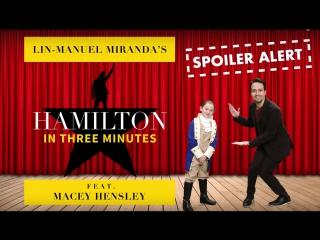 Lin-Manuel Miranda Performs Hamilton in Under 3 Minutes RUS SUB