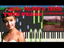 TWIN PEAKS LAURA PALMER'S THEME Piano tutorial Synthesia by