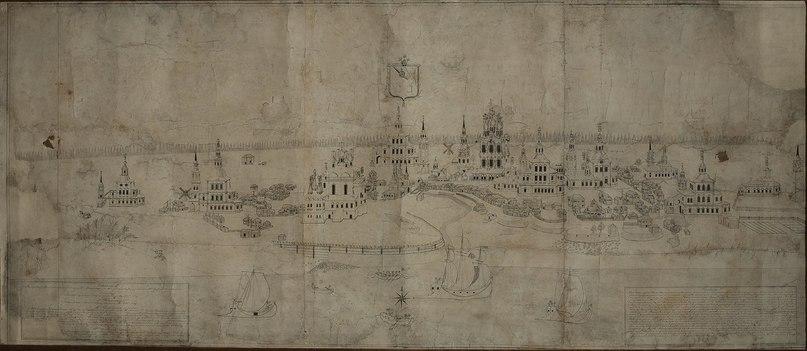 Копия 1859 г. с плана 1793 года А.Чудинова, выполнена Павлом Семёновичем Лихачёвым.