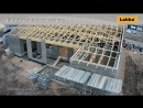 Возведение дома из блоков Lakka EMH-400 PRO, часть 4 (фронтоны и крыша)