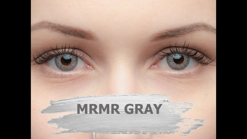 Серые кукольные линзы MrMr Gray EOS (Корея)
