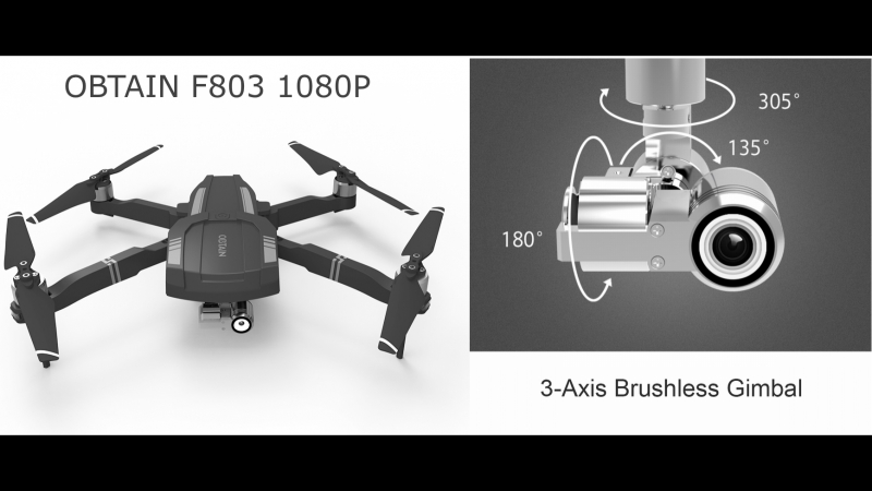 Obtain F803 Дрон для аэрофотосъемки Клон знаменитого DJI Mavic