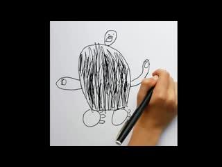 Детские рисунки глазами МАСТЕРА ФОТОШОПА 580 уровня