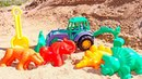 Vidéo en français pour enfants. Moulages en sable