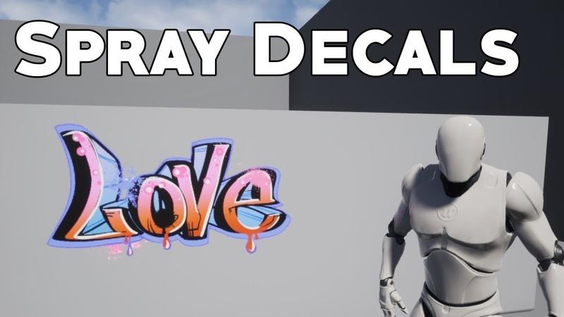 UE4 Tutorial Spraypaint Decals CS GO Overwatch
