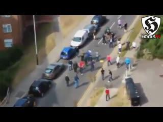 Hooligans fight _ brighton vs spurs