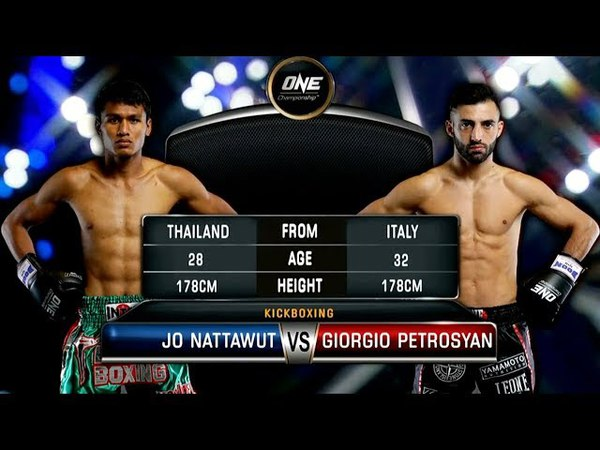Jo Nattawut (Thailandia/Stati Uniti) vs Giorgio Pertrosyan (Armenia/Italia) - commento in inglese