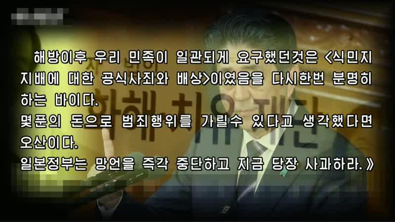 《일본정부는 망언을 즉각 중단하고 지금 당장 사과하라》 남조선단체가 규탄 외 1건