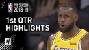 Denver Nuggets vs LA Lakers - 1st Qtr Highlights | October 2, 2018 | 2018 NBA Preseason