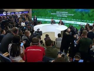 Пресс-конференция бывшего главного тренера Спартака Массимо Карреры