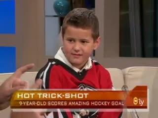 Youtube's 9-year-old hockey star