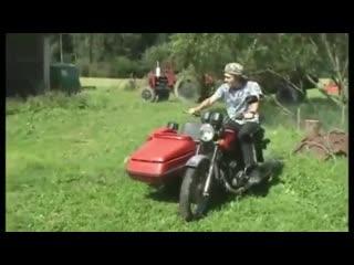 мото приколы.мотоциклы иж падение на ижах