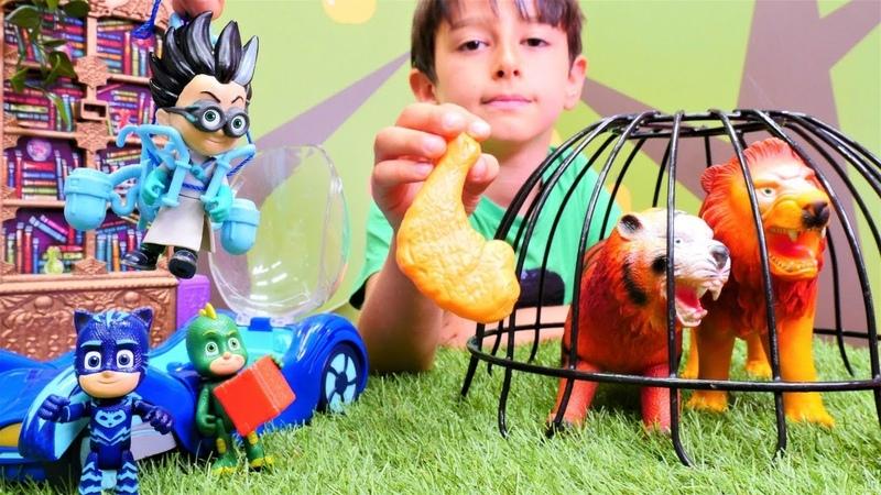 Pijmaskeliler. Romeo PJ Masks evine yaban hayvanlar koyuyor