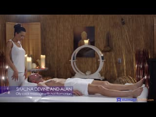 Shalina devine oily cock massage with hot romanian [all sex, blowjob, big tits, feetjob, creampie]