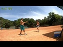 Training process with hard worker Ukrainian tennis player Zaharov Vova