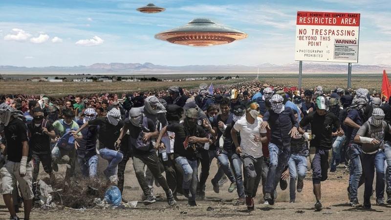 Люди МАССОВО готовятся к штурму Зоны 51 Неужели все вышло из под контроля