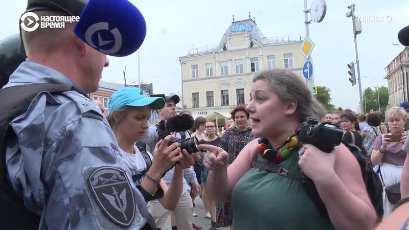 У вас хреновая работа ребята Фотограф спорит с полицейским