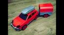 Собираем машинку с прицепом из деталей Красный внедорожник конструктор Red off road