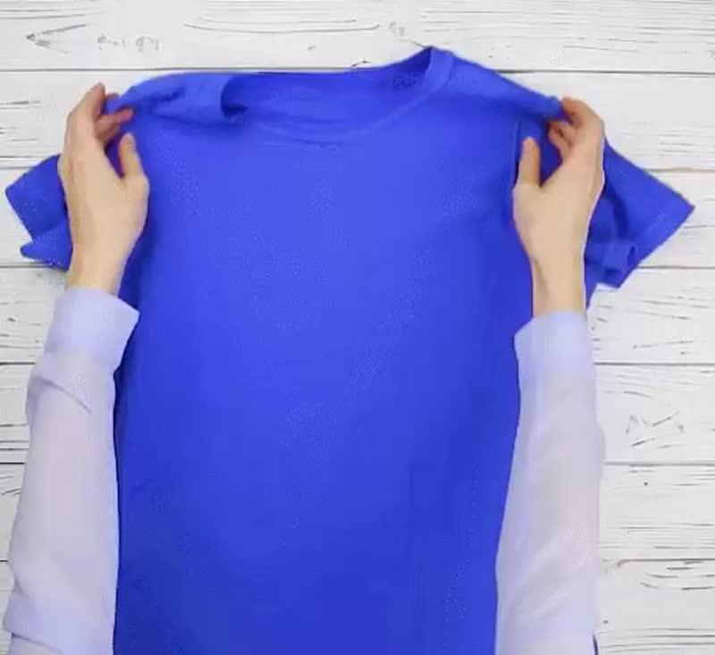 Делаем сумку из старой футболки!