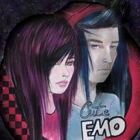 Логотип cute EMO people