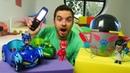 Pijamaskeliler elektrik tamiri ediyorlar Romeo robotu ile enerji çalıyorlar PJ Masks oyuncakları