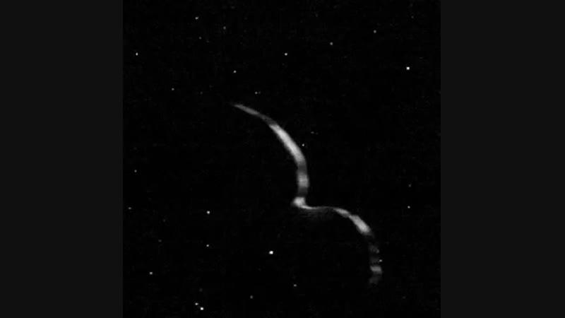 Анимация пролета New Horizons мимо объекта пояса Койпера Ultima Thule