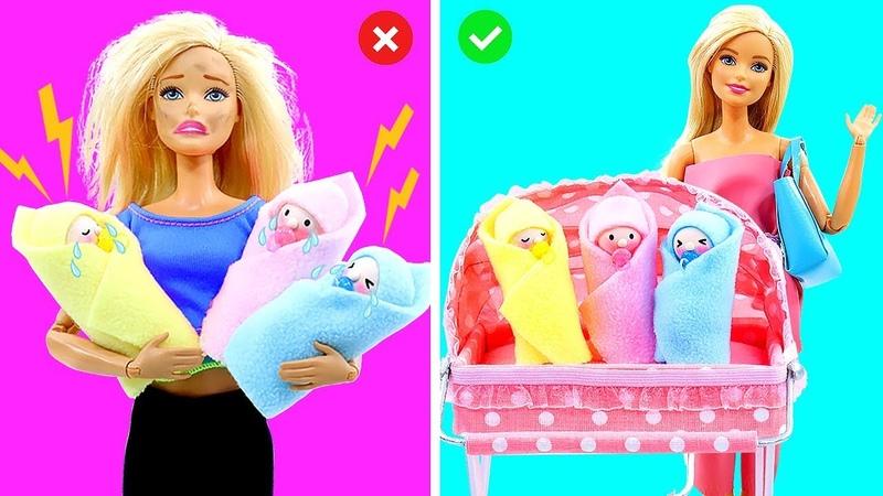 DIY BARBIE HACKS AND CRAFTS: Making Miniature Baby Set for Barbie Doll 2
