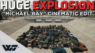 "INSANE EXPLOSION - HUNDREDS of NADES +Cinematic ""Michael Bay"" Edit - PUBG"