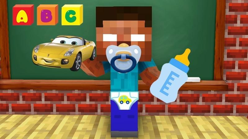 Monster School BABY HEROBRINE CHALLENGE Minecraft Animation