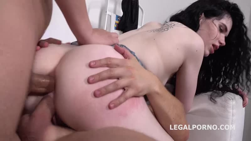 Black Angel 2on1 ANAL and DP with rough sex, gapes, ATM and Cum in