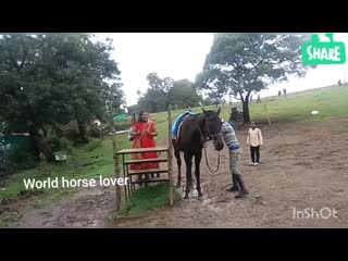 Heavy women horse riding with her baby in ooty tour _ indian actress horse