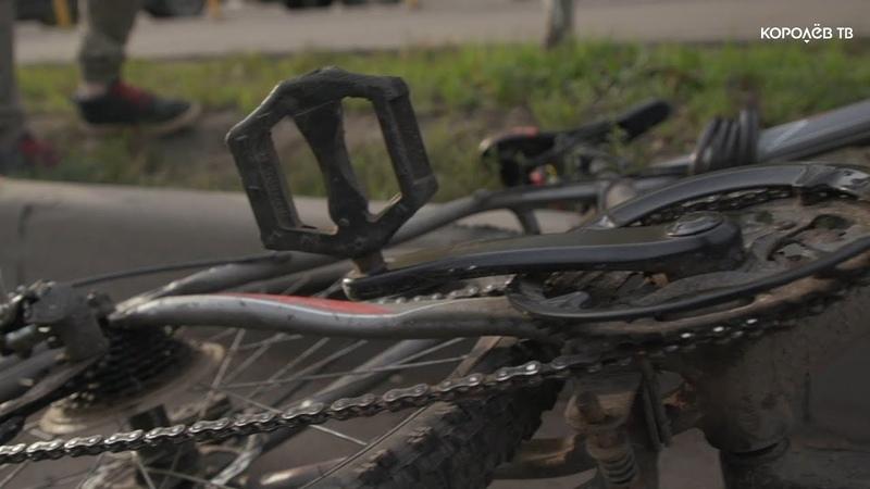 Иномарка сбила велосипедиста на пешеходном переходе