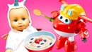 Baby Born Doll Feeding and Cooking Food Toys at the Toy Kitchen