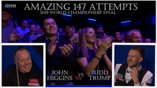 AMAZING 1️⃣4️⃣7️⃣ ATTEMPTS! John Higgins vs Judd Trump FINAL 2019 World Championship