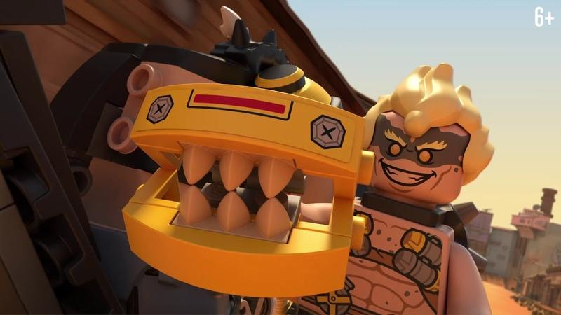 Таран преследует Крысавчика и Турбосвина в Джанкертауне - LEGO Overwatch