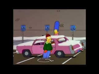 Homer on a handicap parking / гомер на паркое для инвалидов (the simpsons / симпсоны)