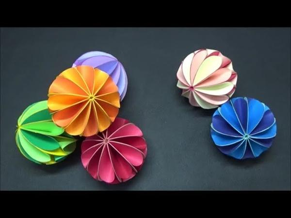 (画用紙)簡単で可愛い!カラフルボールの作り方【DIY】(Drawing paper) Easy and cute! Colorful balls » Freewka.com - Смотреть онлайн в хорощем качестве