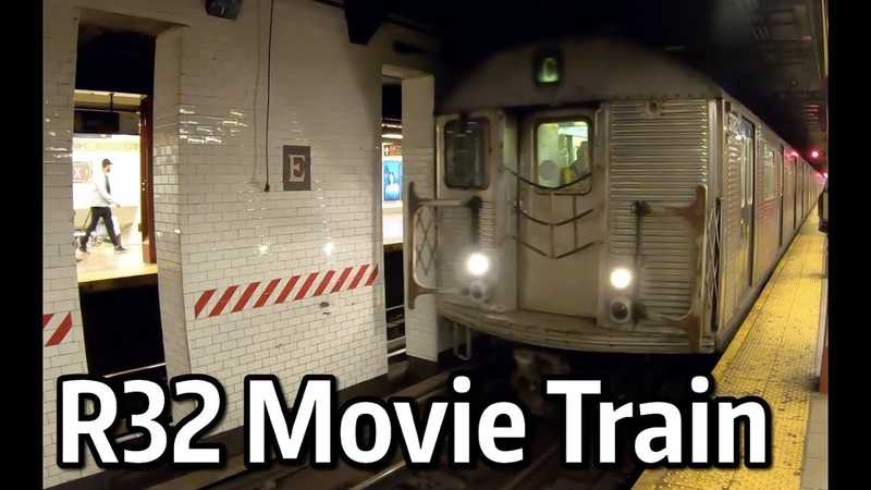 ⁴ᴷ R32 Movie Train passing through Essex St on the J Line