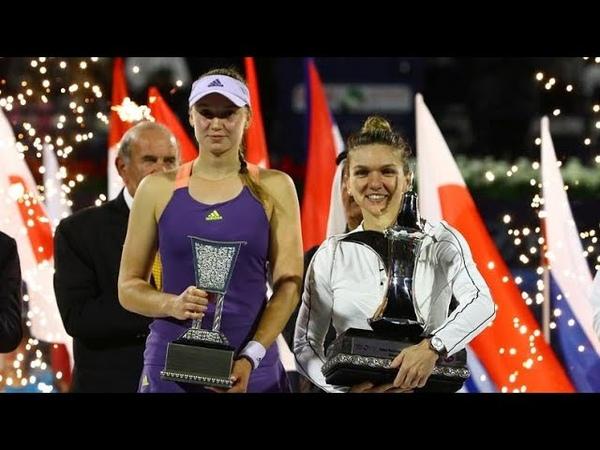 Simona Halep vs Elena Rybakina Dubai 2020 Highlights