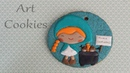 Castañera (Vendedora de Castañas)- Tutorial de galleta decorada