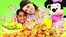 Minnie Mouse ile çocuk yemek yapma videoları Okul öncesi çocuk yapabileceği pratik tarifler