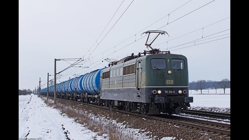 Bunter Güterzug Verkehr in Böhla bei Dresden SRI 151 Eurocity Umleiter CD Cargo EGP uvm