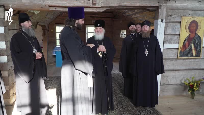 Святейший Патриарх Кирилл посетил храмовые комплексы в деревнях Ворзогоры и Подпорожье в Архангельской области.