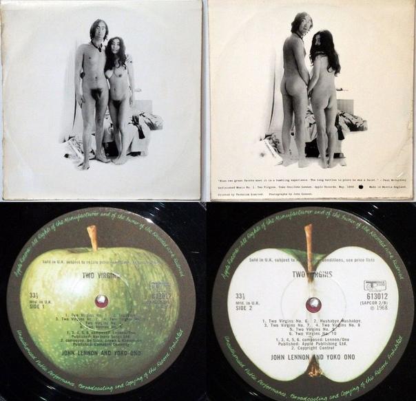 Два девственника В 1968 году, уже основательно поехавший кукушкой Джон Леннон выпустил свой первый сольный альбом Unfinished Music No.1: Two Virgins. В записи горячее участие приняла его