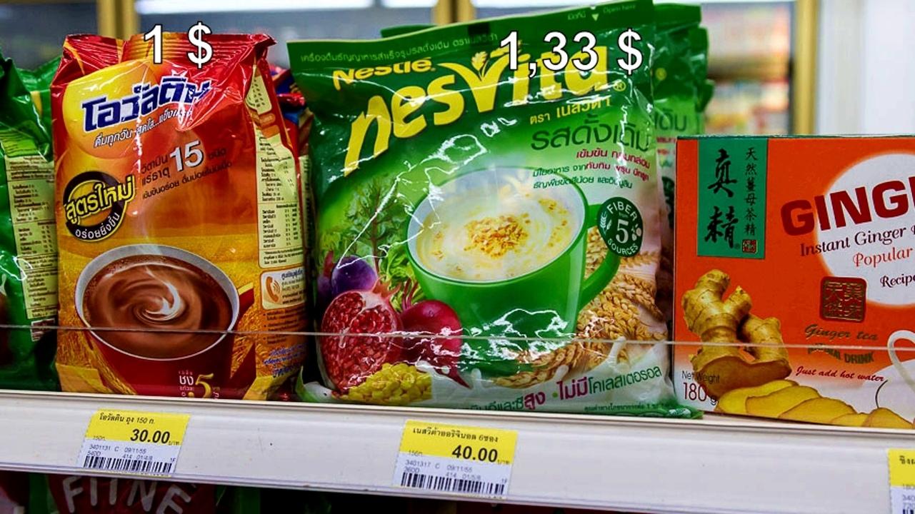 Цены на продукты и еду в Таиланде.  Yotg-EBwvzU