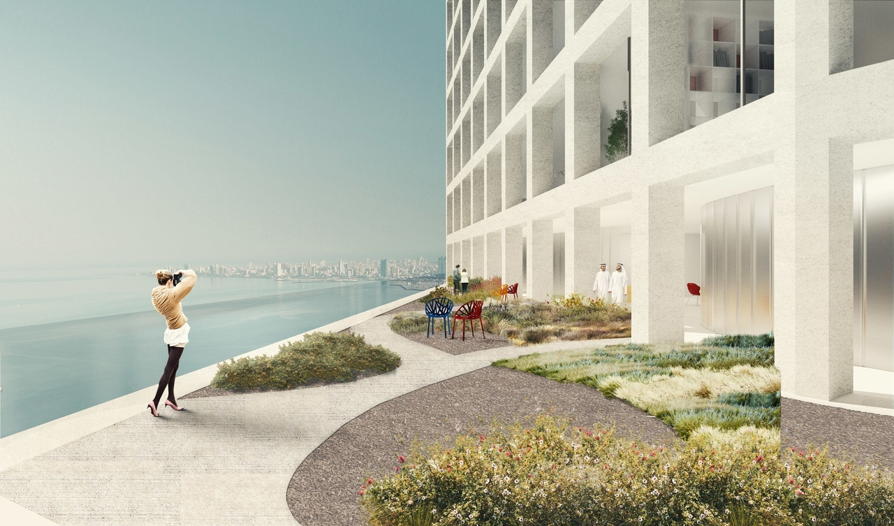 OMA unveils design for residential Wafra Tower in Kuwait City