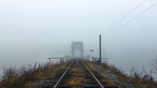 Fog at Bridge in 4K - RELAX Video with Natural Sounds for sleep   Tver