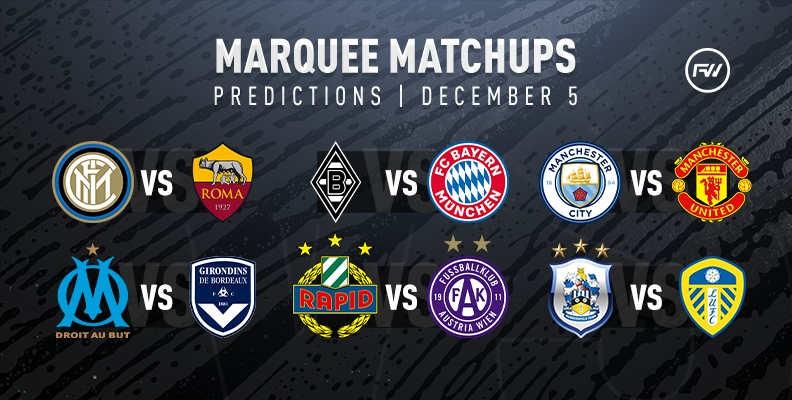FIFA 20 Marquee Matchups Predictions: December 5th