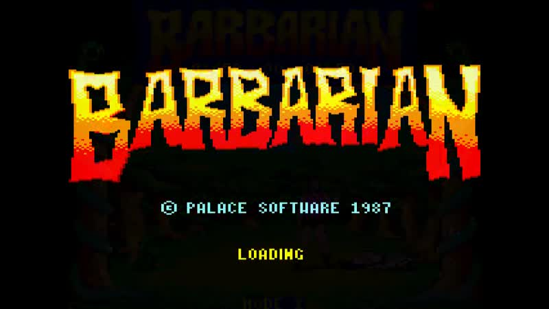 Barbarian Le Guerrier Absolu CPC 1987