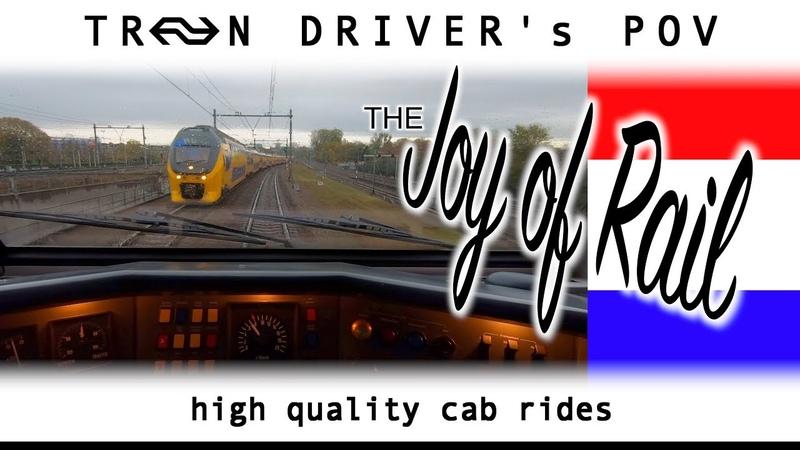 Hoorn Amsterdam TRAIN DRIVER'S POV VIRM 18nov 2019